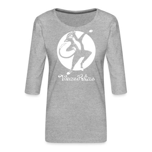 TanzeKatze - Frauen Premium 3/4-Arm Shirt