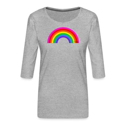 Rainbow - Naisten premium 3/4-hihainen paita