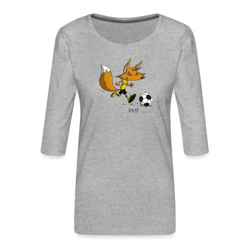 Valmy mascotte - T-shirt Premium manches 3/4 Femme