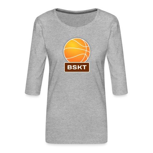 Basket - Camiseta premium de manga 3/4 para mujer