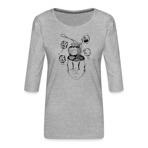 Spaghetti head - Women's Premium 3/4-Sleeve T-Shirt