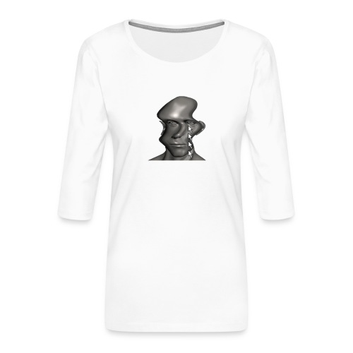 cursor_tears - Women's Premium 3/4-Sleeve T-Shirt