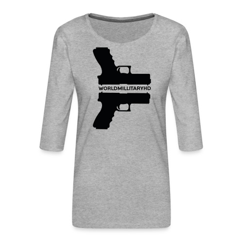 WorldMilitaryHD Glock design (black) - Vrouwen premium shirt 3/4-mouw