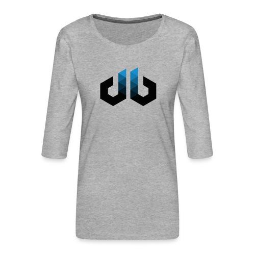 digitalbits Logo - Frauen Premium 3/4-Arm Shirt