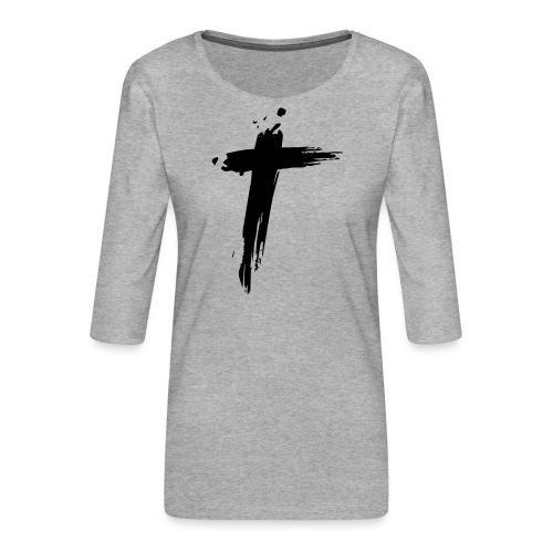 Cross - Vrouwen premium shirt 3/4-mouw