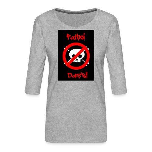 Fatboi Dares's logo - Women's Premium 3/4-Sleeve T-Shirt