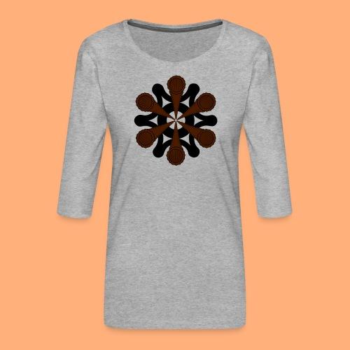 vortex - T-shirt Premium manches 3/4 Femme