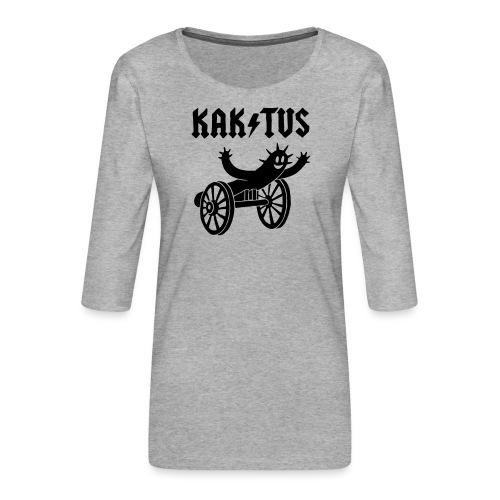Kaktus Rock - Frauen Premium 3/4-Arm Shirt