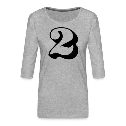 cool number 2 - Vrouwen premium shirt 3/4-mouw
