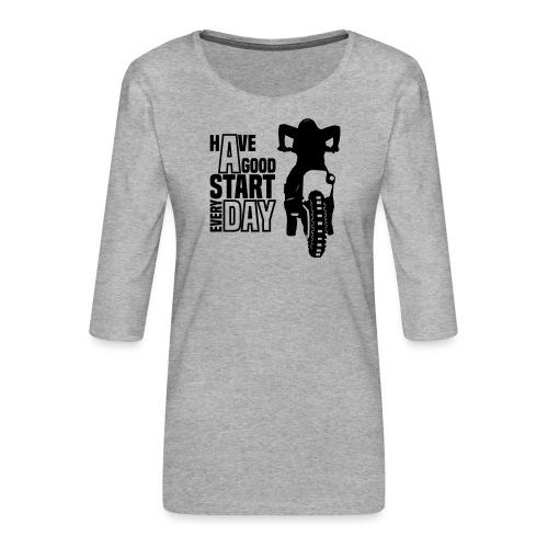 Have a good Start MX (HQ) - Frauen Premium 3/4-Arm Shirt