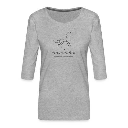 educando desde nuestra naturaleza negro - Camiseta premium de manga 3/4 para mujer