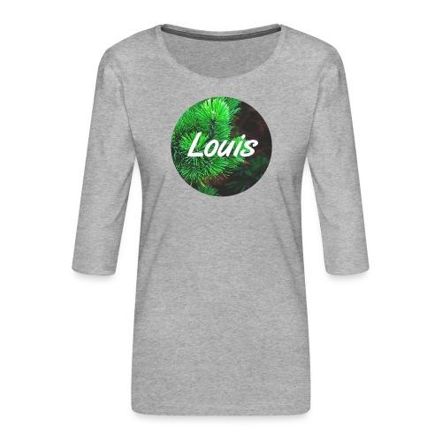 Louis round-logo - Frauen Premium 3/4-Arm Shirt