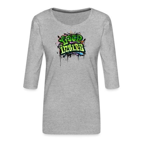 Loop INSIDE 😎 - Frauen Premium 3/4-Arm Shirt