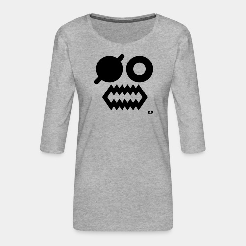 A-054 Smiley Pirat - Frauen Premium 3/4-Arm Shirt