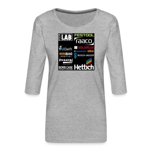 Sponsors back - Women's Premium 3/4-Sleeve T-Shirt