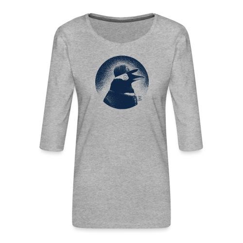 Pinguin dressed in black - Women's Premium 3/4-Sleeve T-Shirt