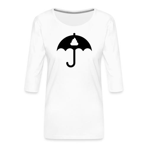 Shit icon Black png - Women's Premium 3/4-Sleeve T-Shirt