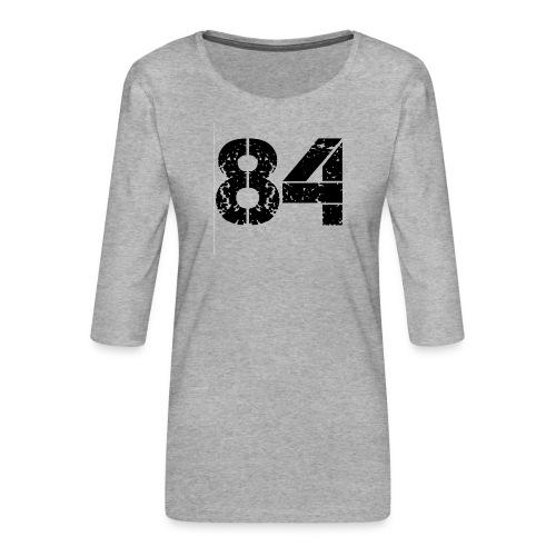 84 vo t gif - Vrouwen premium shirt 3/4-mouw