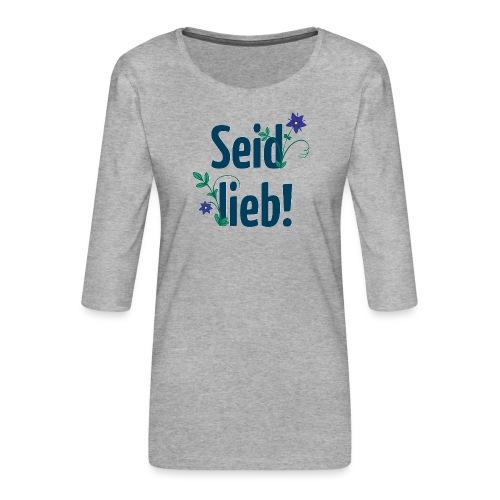 Frauen Premium 3/4-Arm Shirt