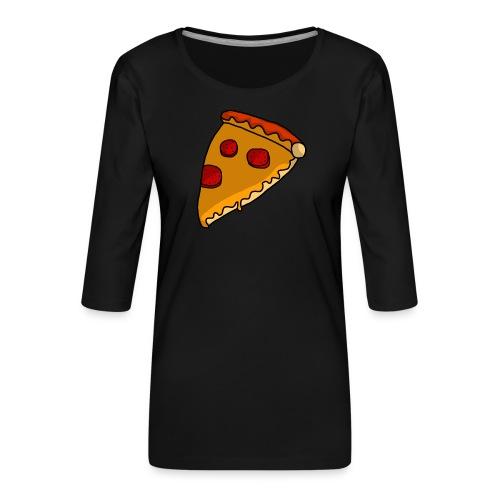 pizza - Dame Premium shirt med 3/4-ærmer