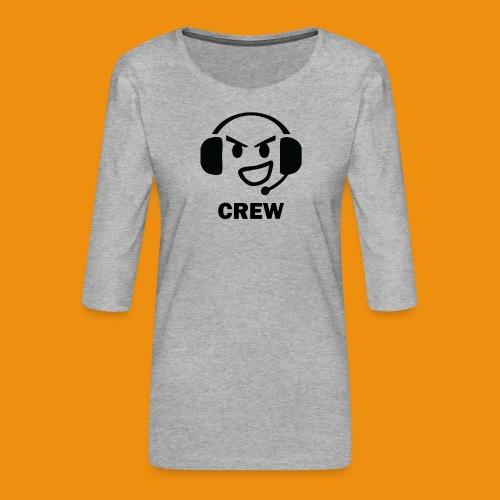 T-shirt-front - Dame Premium shirt med 3/4-ærmer
