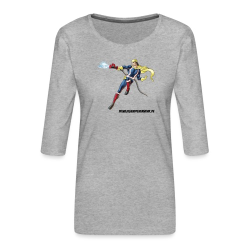 Captain Firefighter - Frauen Premium 3/4-Arm Shirt