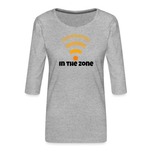In the zone women - Vrouwen premium shirt 3/4-mouw