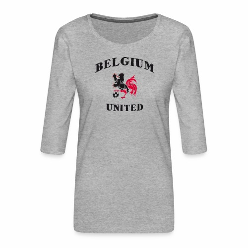 Belgium Unit - Women's Premium 3/4-Sleeve T-Shirt