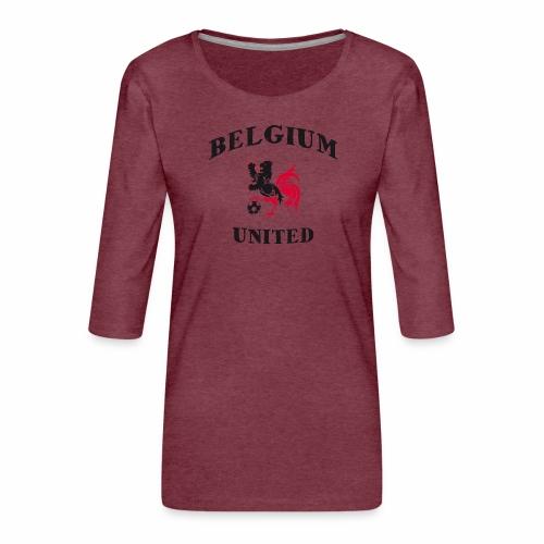 Belgium Unit - Women's Premium 3/4-Sleeve T-Shirt