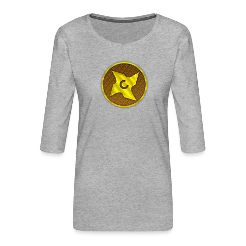 creative cap - Dame Premium shirt med 3/4-ærmer