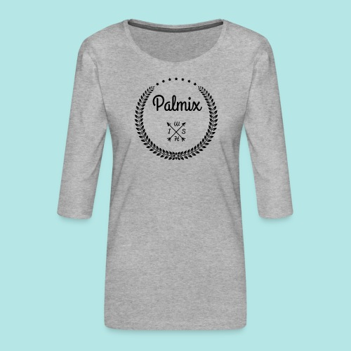 Palmix_wish camiseta mangas color - Women's Premium 3/4-Sleeve T-Shirt