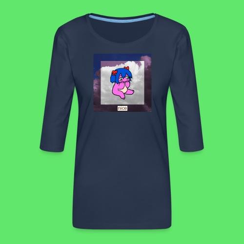 le nice girl - Women's Premium 3/4-Sleeve T-Shirt