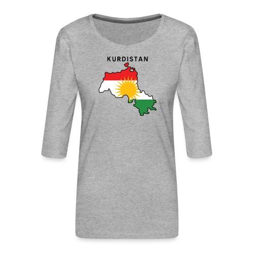 Kurdistan - Premium-T-shirt med 3/4-ärm dam