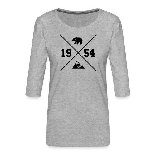 Karhuvuori -baseballhuppari - Naisten premium 3/4-hihainen paita