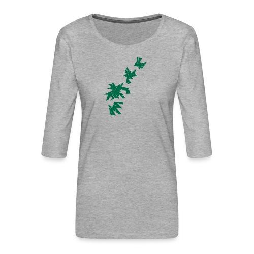 Green Leaves - Frauen Premium 3/4-Arm Shirt