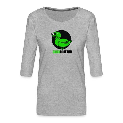 Greenduck Film Logo w. black letters - Dame Premium shirt med 3/4-ærmer