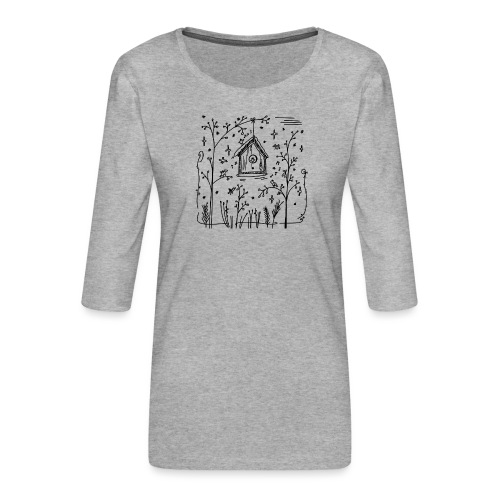 Vogelhuisje - T-shirt Premium manches 3/4 Femme