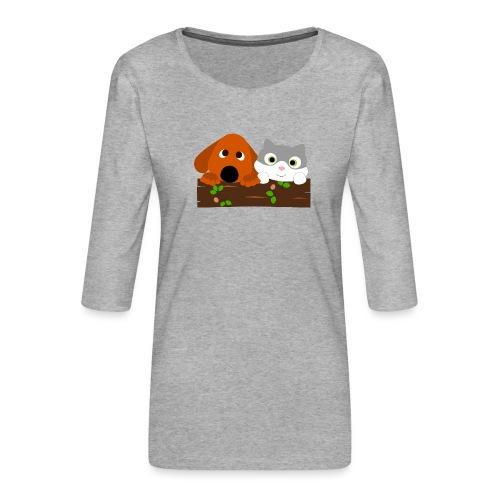 Hund & Katz - Frauen Premium 3/4-Arm Shirt