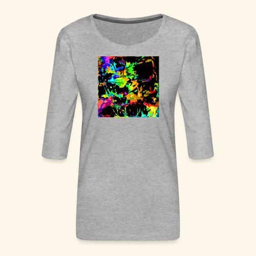 Fiamme colorate - Maglietta da donna premium con manica a 3/4