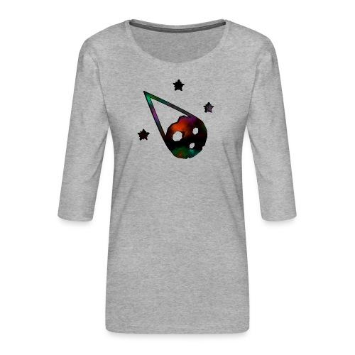 logo interestelar - Camiseta premium de manga 3/4 para mujer