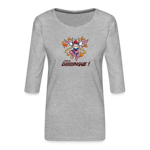 Ikki - J'suis un dingue - T-shirt Premium manches 3/4 Femme