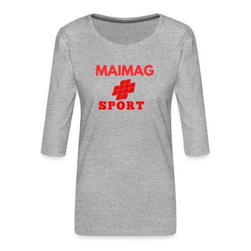Diseños maimag - Camiseta premium de manga 3/4 para mujer