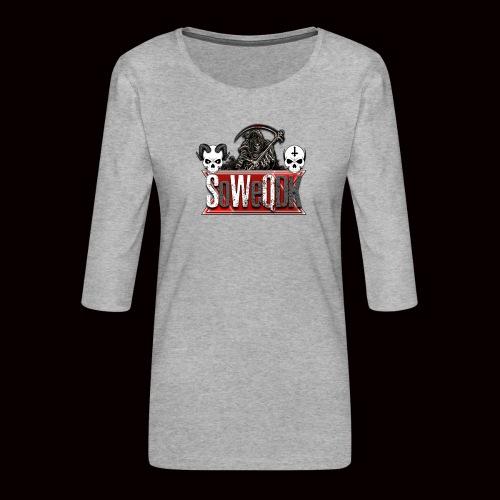 SoWeQDK Banner - Dame Premium shirt med 3/4-ærmer