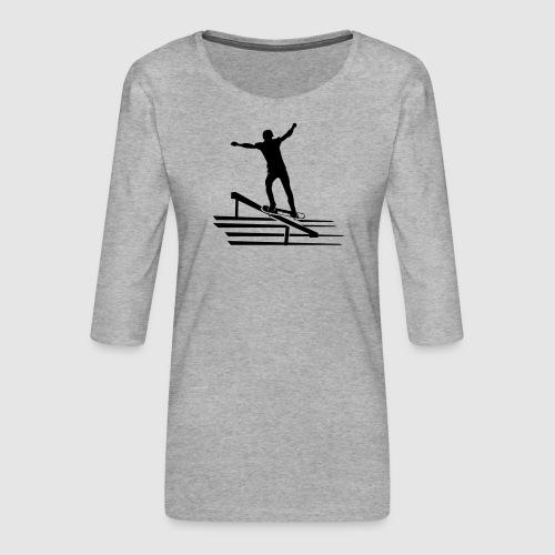 Skateboard - Frauen Premium 3/4-Arm Shirt