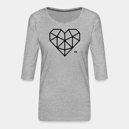 A-051 Herz Diamant - Frauen Premium 3/4-Arm Shirt