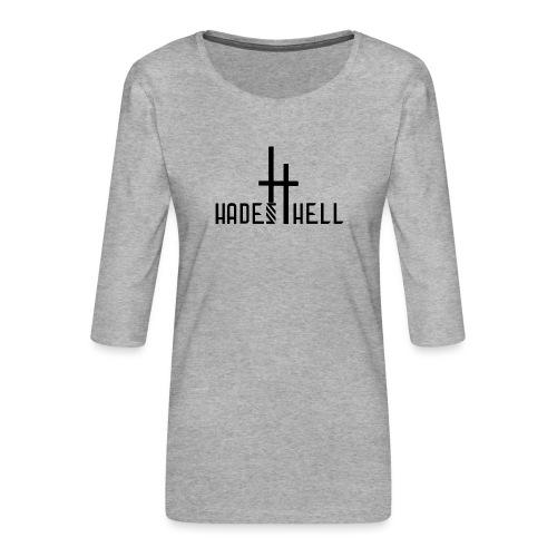Hadeshell black - Frauen Premium 3/4-Arm Shirt