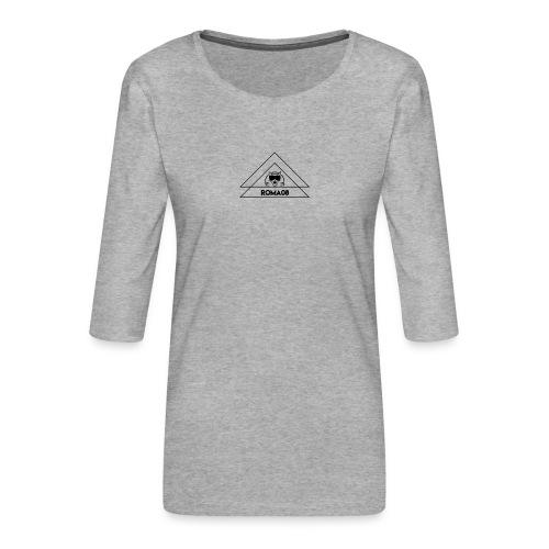 Roma08 - Camiseta premium de manga 3/4 para mujer