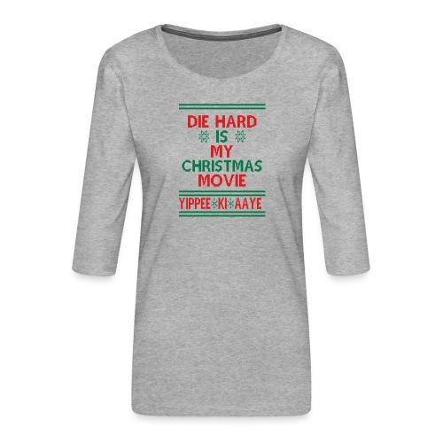 Die Hard Its Not Christmas - Naisten premium 3/4-hihainen paita