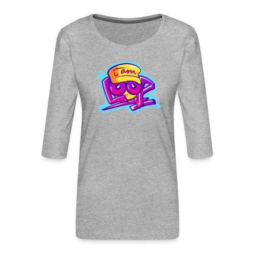 Graffiti I AM LOOP - Frauen Premium 3/4-Arm Shirt