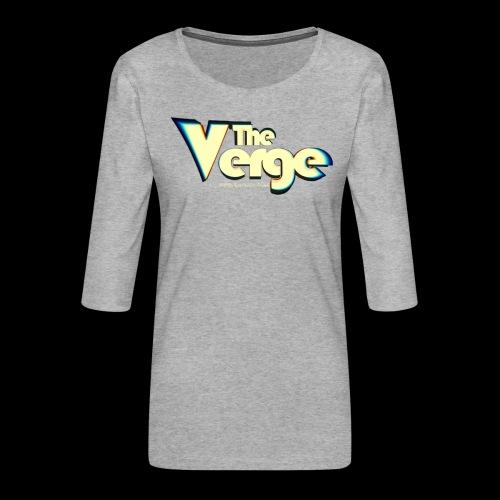 The Verge Vin - T-shirt Premium manches 3/4 Femme